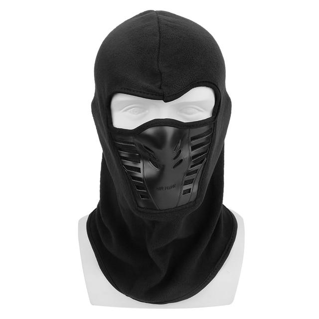 Motorcycle Face Mask Winter Windproof Hiking Cap For Ski Bike Motorcycle  Black Face Neck Warmer Helmet Hat Men Warm Thermal