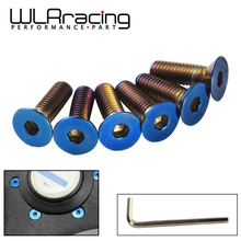 WLR RACING   6PC/LOTS Burnt Titanium Steering Wheel Bolts Fit a lot of steering wheel Works Bell Boss Kit WLR LS06CR T