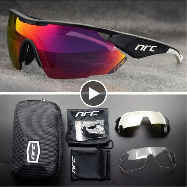 Nrc marca superior ciclismo óculos de bicicleta dos homens uv400 ciclismo óculos de sol gafas tr90 mtb estrada esportes óculos de sol 1