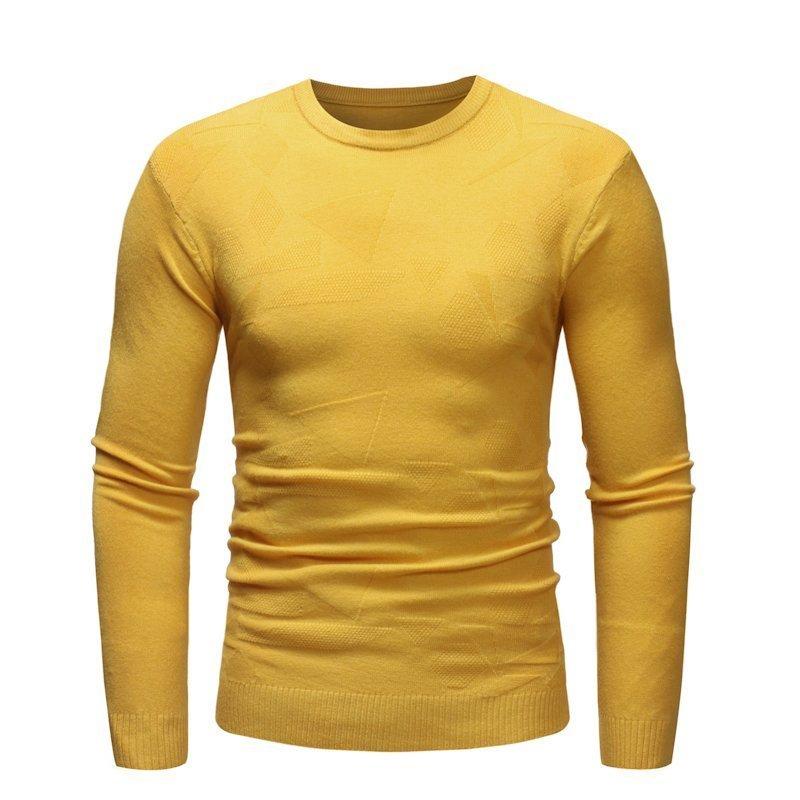 Men's Fall New O-Neck Soft Warm Sweater Pullover Men's Sweater Loose Casual Sweater Men