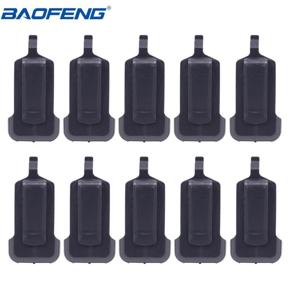 10 pces original clipe de cinto compatível com rádio em dois sentidos radiofor baofeng BF-R5/ BF-C9/rt22/x6/ZS-B1WLN KD-C1 walkie talkie ham