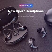 Yeni yükseltme kulaklık Bluetooth kablosuz spor mikrofonlu kulaklıklar TWS kulak kancası koşu Stereo müzik kulaklıkları kulaklık Gamer