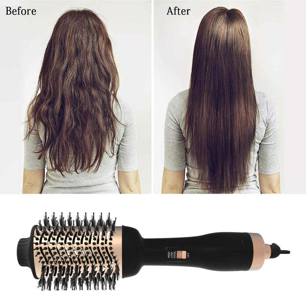 Brush Hair-Dryer Styler Curling Volumizer Iron-Hair Tangle Professional Comb And 3 3-In-1 title=
