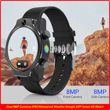 50M Real IP68 Waterproof WatchCeramic Bezel 8MP Dual Camera 4G GPS Glonass 3560mAh Battery Protection Android Smart Watch Phone tanie tanio NoEnName_Null CN(Origin) Android OS Wearable All Compatible 32 GB Passometer Answer Call Dial Call Push Message Power Reserve