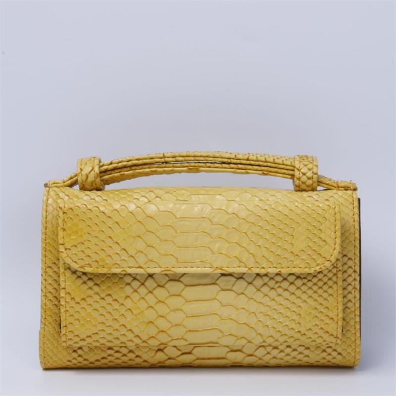 Fashion Cowhide Leather Day Clutch One Shoulder Crossbody Bag Small Crocodile Pattern Genuine Leather Clutch Chain Bag