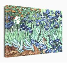 Irises Flowers by Van Gogh Paintings on Canvas Art -Hand Painted Famous Oil Wall Decor for Home Office Decorations