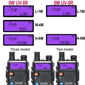 Image 5 - 2 adet 8W Baofeng UV 5R radyo seti Walkie Talkie UV 5R UV5R iki yönlü radyo istasyonu verici USB dişi yumuşak anten 771