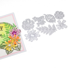 Letters Decoration Metal Steel Frames Flower Leaves Cutting Dies DIY Scrap Booking Photo Album Embossing Paper Cards