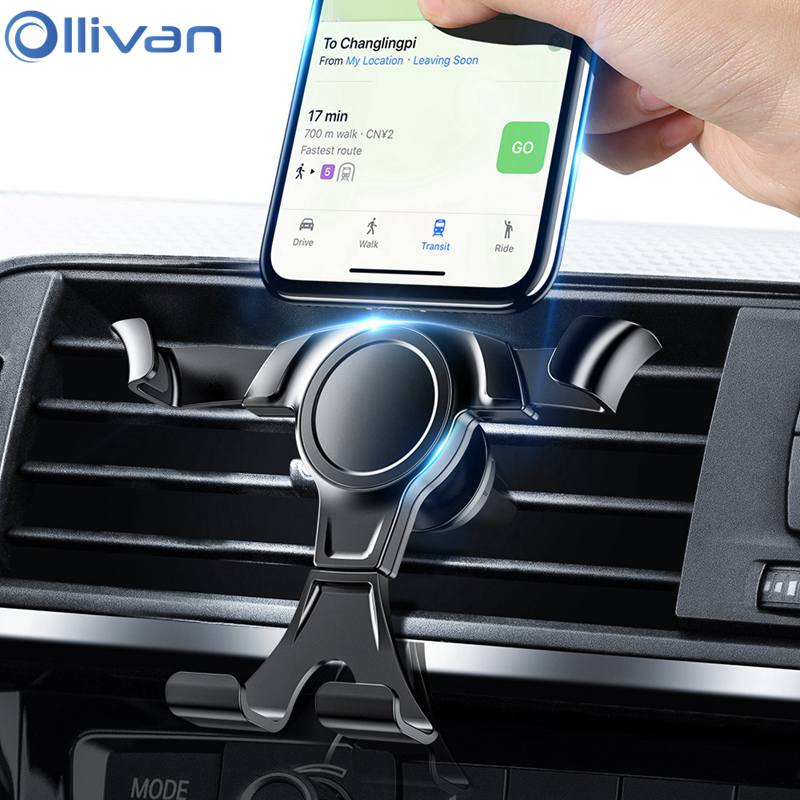 Car Phone Holder Universal In Car Air Vent Mount Stand Mobile Phone Car Holder For IPhone XS MAX XR X 7 8 Samsung A50 70