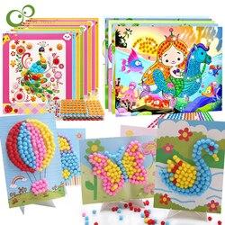 5Pcs DIY Craft Toys Button Stickers Pompom Stickers Diamond Stickers Painting Drawing Toys Handmand Craft Kit Children Toys YJN