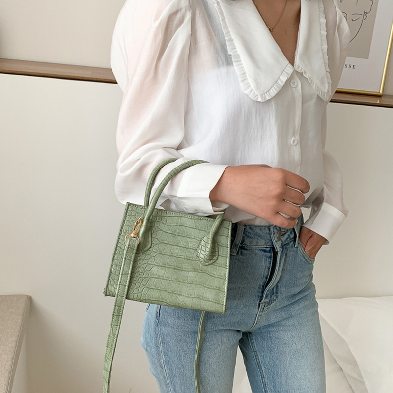 Crossbody-Bags Totes Shoulder Handbags Crocodile-Pattern Small Female Summer Women Simple