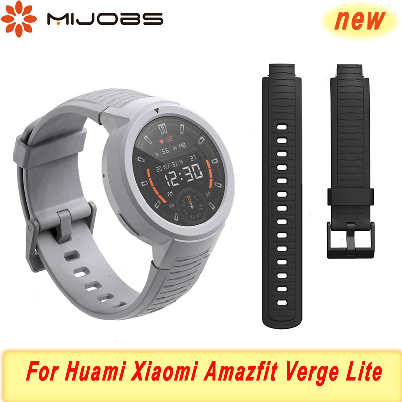 Silica Strap For Huami Amazfit Verge Lite Strap Smart Watchband Soft Bracelet For Xiaomi Amazfit Bip Wristband Strap Accessories