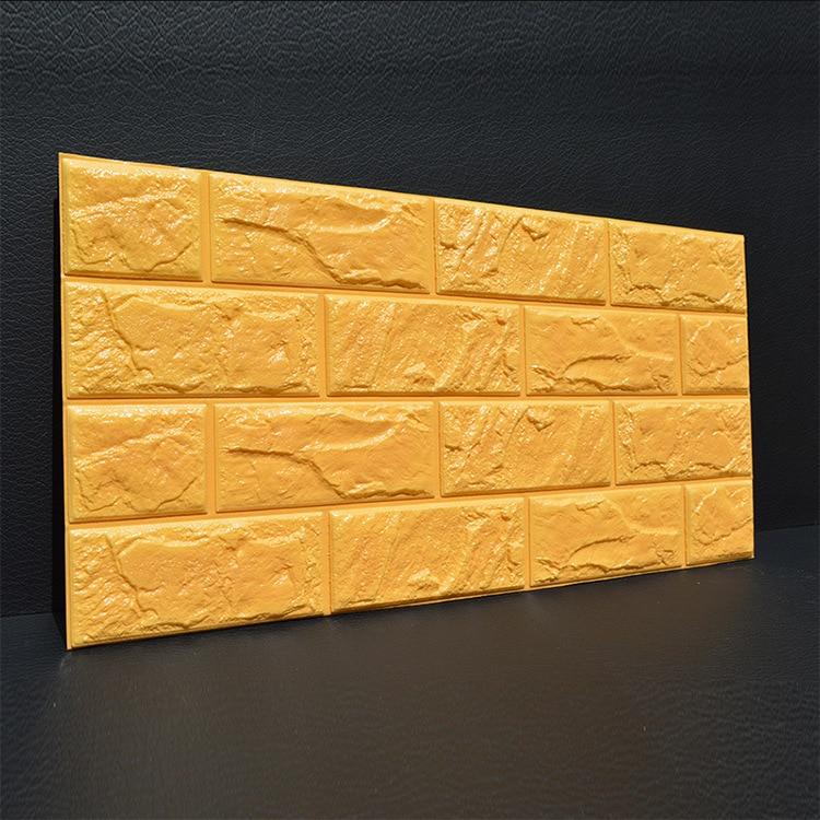 3D обои, кирпичная стена, клейкая бумага, жизнь, водонепроницаемая пена, комната, спальня, сделай сам, клейкая настенная бумага