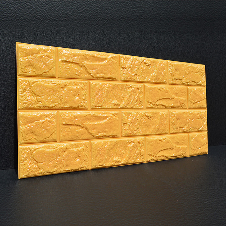 3D Wallpaper Brick Wall Adhesive Paper Life Waterproof Foam Room Bedroom DIY Adhesive Wallpaper