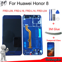 "5.2 ""AAA คุณภาพจอ LCD กรอบสำหรับ Huawei Honor 8 จอแสดงผล LCD Touch Screen Digitizer Assembly สำหรับ Honor 8 lcd FRD L19 FRD L09"