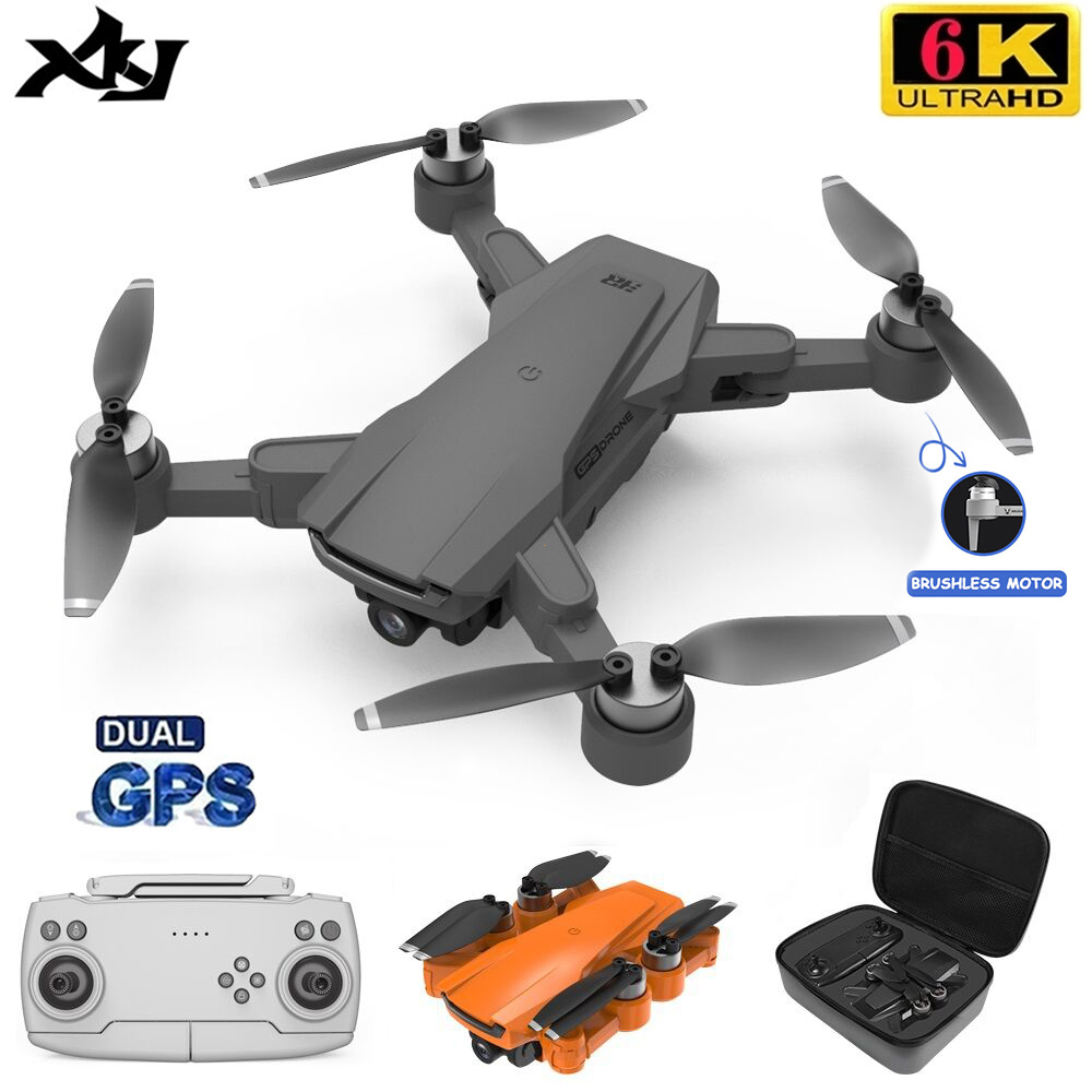 XKJ ICamera3 GPS Drone 6K HD Dual Camera Professional Aerial Photography WIFI FPV Foldable Quadcopter Brushless RC Dron Toy