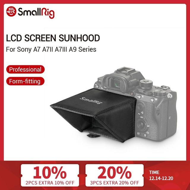 SmallRig Camera Screen Sun Shield Hood for Sony A7 A7II A7III A9 Series DSLR Camera/Camcorders Viewfinder Sunshade Hood 2215
