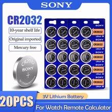 20 pz SONY CR2032 CR 2032 DL2032 ECR2032 BR2032 batteria al litio 3V per orologio giocattolo calcolatrice auto telecomando pulsante cella a bottone