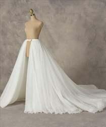 Съемная Свадебная юбка, верхняя юбка, фатиновая юбка, индивидуальная юбка, съемная юбка, бальная юбка, длинная юбка с изображением поезда, св...