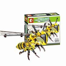 330 Pcs Simulated Insect BEE DIY Red Dragonfly Building Blocks Compatible Creator Bricks Kids Toys for Children