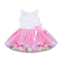 Детское платье-пачка без рукавов, с круглым вырезом и бантом