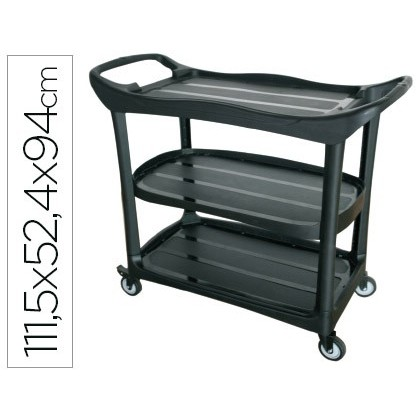 SERVICE CART MULTIFUNCTIONAL Q-CONNECT 3 SHELVES PL STICO 1115X524X940