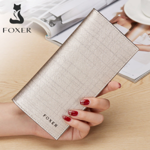 Image 1 - Card Holder Clutch Bag Wallet Female Coin Purse FOXER Brand Fashion Design