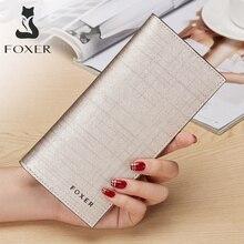 카드 홀더 클러치 백 지갑 여성용 동전 지갑 FOXER Brand Fashion Design