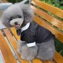 Одежда для собак, кошек, принца, Свадебный костюм, галстук-бабочка для смокинга, щенка, пальто, 5 размеров для больших и маленьких собак