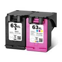 63XL reemplazo de cartucho de tinta 63 XL cartucho de impresora HP Deskjet serie 1110, 2130, 2131, 2132, 3630, 4250, 5220, 5230, 5232, 5252