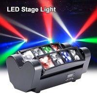 40W RGBW LED fascio stroboscopico DMX512 Spider Stage Lighting testa mobile proiettore Laser Light Bar discoteca DJ club Party Show Decor Light