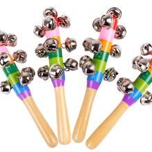 Красочная радуга ручная палочка с кольцом деревянная перкуссия