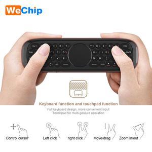 Image 5 - W2 mouche Air souris voix télécommande Microphone 2.4G sans fil Mini clavier Gyroscope pour Smart Android tv box Projecter pk mx3