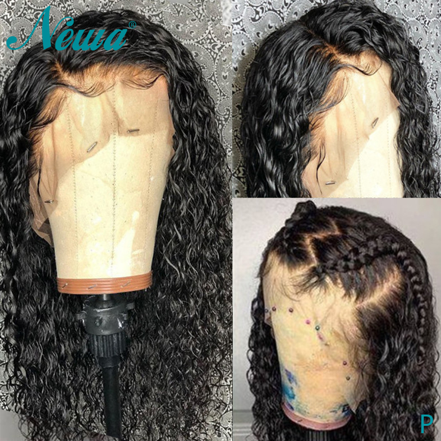 Newa Hair Water Wave Full Lace Human Hair Wigs With Baby Hair Brazilian Full Lace Wig Pre Plucked Remy Hair Lace Wigs 130/150%