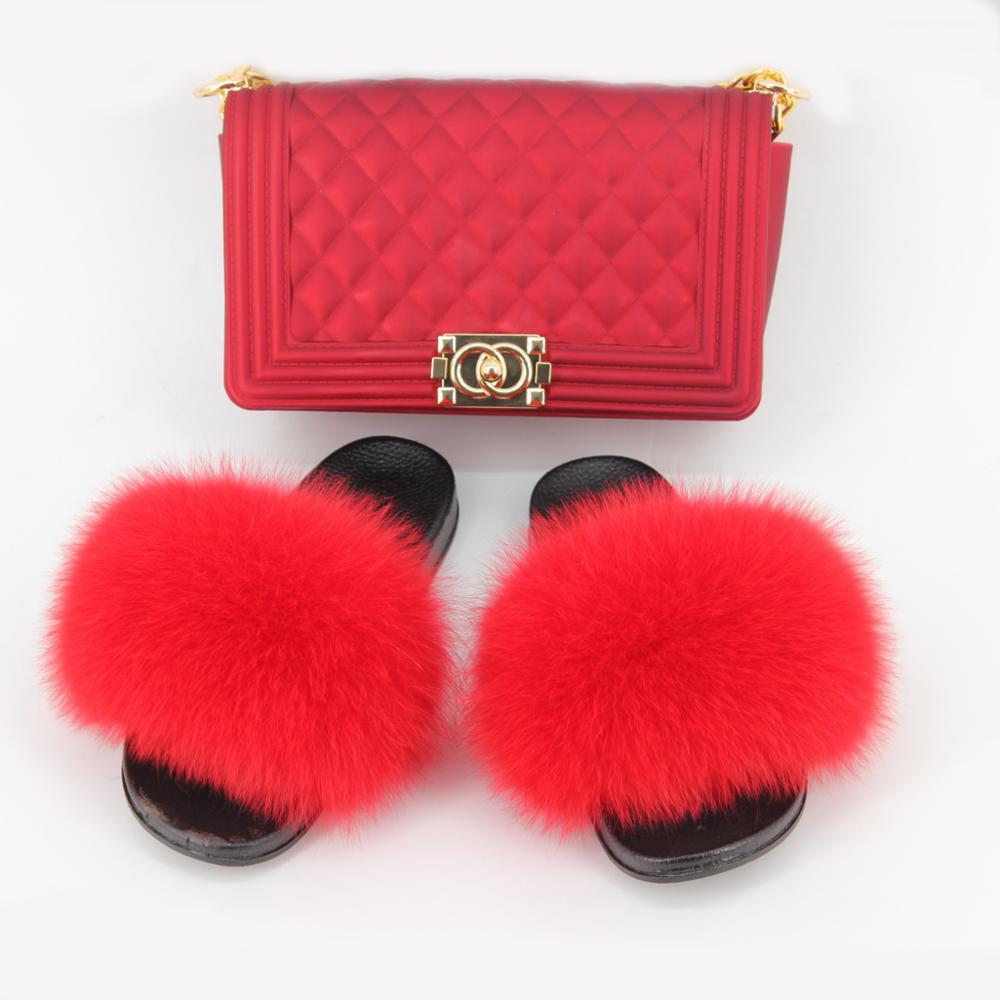 Cute Fox Fur Slippers For Women, Furry Slippers For Women, Fluffy Summer Sandals For Women, Fur Slippers For Women, Plus Size