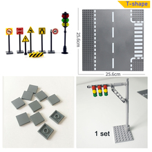 City Road Street Baseplate Set building block base plate Compatible All Brands City cheap leduo Unisex 6 years old Small building block(Compatible with Lego) Certificate Plastic classic road base plate decoration classic Compatible With leduo