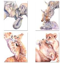 DIY 5D Diamond Embroidery Animal Lion Giraffe 3D Diamond Painting Mom Love Cross Stitch Full Rhinestone Mosaic Craft Gift Decor ботильоны berkonty berkonty mp002xw1hcd4