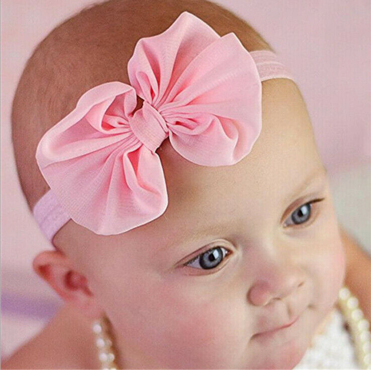 Kid Girl Baby Headband Toddler Bow Flower Hair Band Accessories Headwear