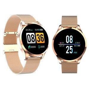 Q9 inteligentny zegarek mężczyźni kobiety IP67 wodoodporna Sport Tracker bransoletka Fitness Smartwatch z kontrolą tętna inteligentna opaska dla Android IOS