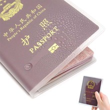 Transparent Matte Passport Holder Protector Cover Wallet PVC ID Card Holders Business Credit Card Holder Case Pouch for CN US UK waterproof pvc transparent passport cover case women travel id card holders business credit card holder