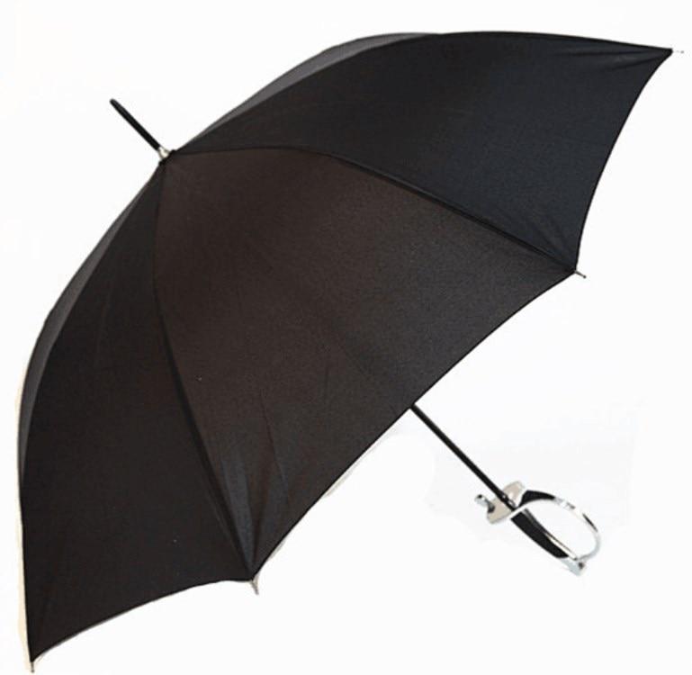 Western Sword Handle Self-Open Straight Pole Umbrella Semi-automatic Cool Handle Umbrella Currently Available Wholesale Umbrella