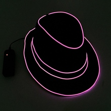 Fashion Men Women Light Up EL Wire Cap Glow Club Party Hat for Night Camping LED Travel Concert Stage Show