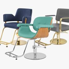 Чистая красная Парикмахерская стул Парикмахерская специализированная вращающаяся стрижка стул лифт высокого класса Европейский стиль простой современный парикмахерский