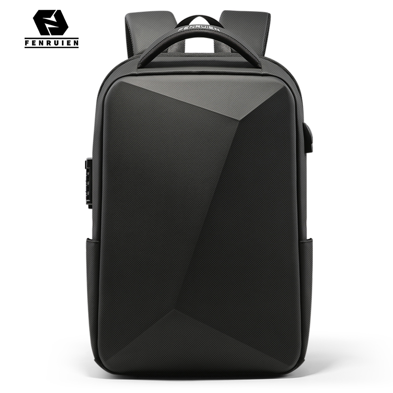 Fenruien Brand Laptop Backpack Anti-theft Waterproof School Backpacks USB Charging Men Business Travel Bag Backpack New Design 1