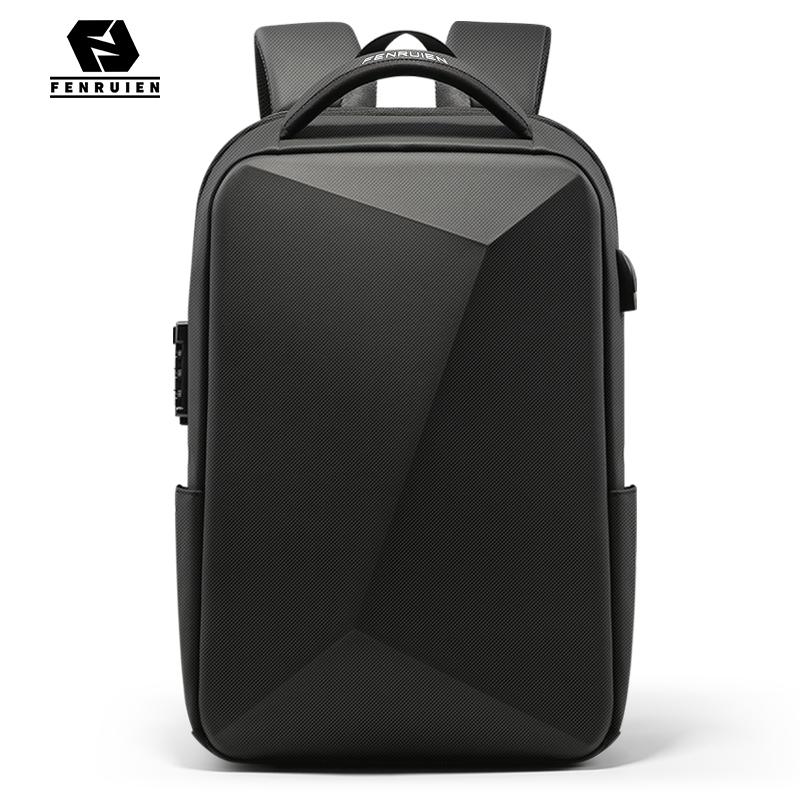 Fenruien Brand Laptop Backpack Anti theft Waterproof School Backpacks USB Charging Men Business Travel Bag Backpack New Design