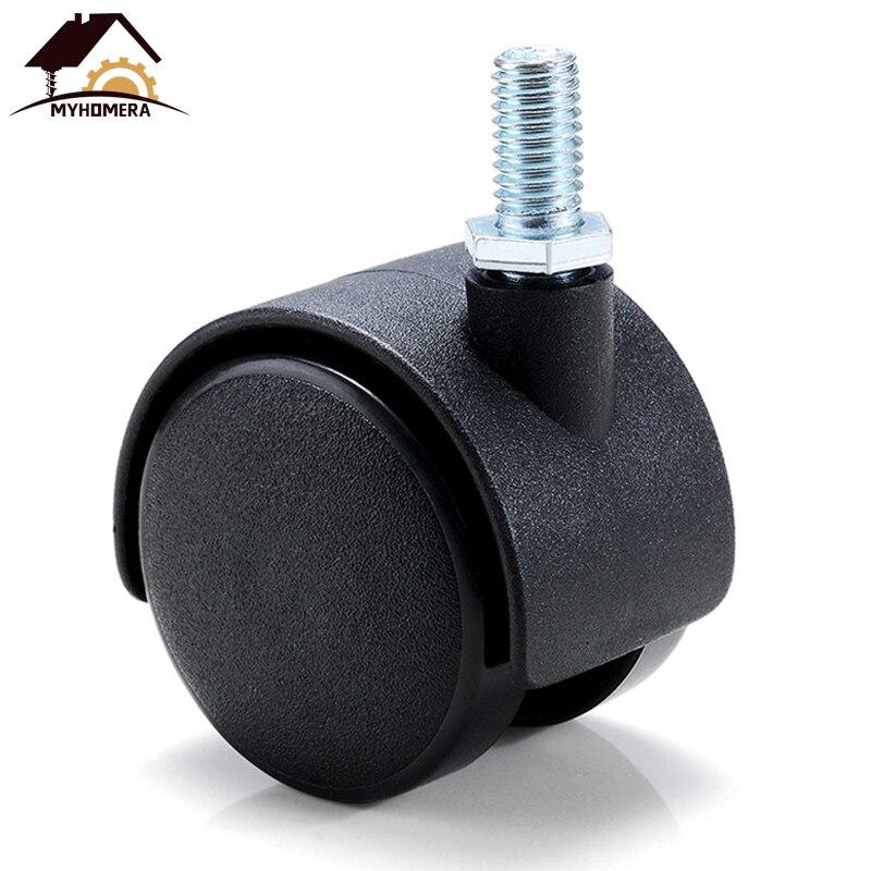 Myhomera parafuso de roda de móveis, 4 peças, rodas de mesa de móveis 40mm 48mm, sem freio, rodas giratórias, substituição de máquinas de carrinho silencioso, silencioso-2