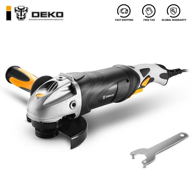 DEKO 220V 125mm Electric Angle Grinder Machine Angular Power Tool Grinding Cutting Grinding Metal Wood