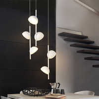 LukLoy Postmodern Creative Pendant Lamp Bedside Chandelier Lamp Dining Room Living Room Hanging Light LED Suspension Lighting