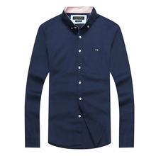 Mais vendidos 2021 nova marca parque camisas retalhos eden camisa masculina básica dos homens camisa masculina botão masculino chemise hombre grande M-XXL