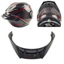Aparência de fibra carbono da motocicleta guarnição traseira capacete spoiler acessórios caso para pista corsa gpr gprr